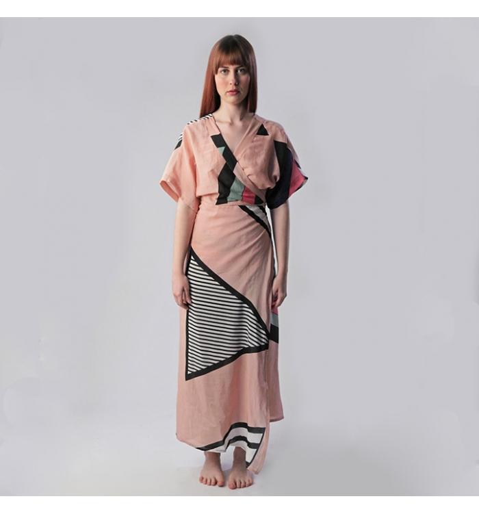 Wrap Kimono Dress|STELLA AURUM